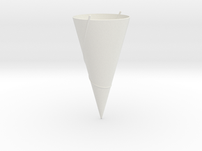 90 Degree Cone: Geodesics in White Natural Versatile Plastic