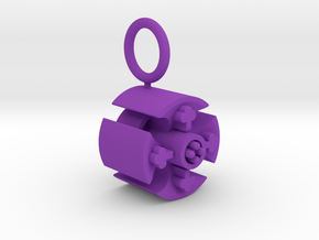 Celtic Cross Pendant in Purple Processed Versatile Plastic