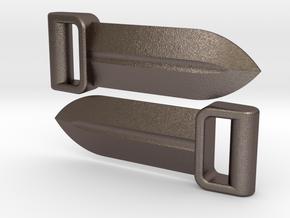 Grip Sword Set for ModiBot in Polished Bronzed Silver Steel