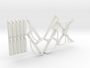 DRGW Caboose Railings in White Natural Versatile Plastic