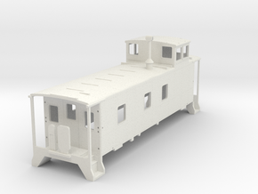 Caboose V2 H0  in White Natural Versatile Plastic