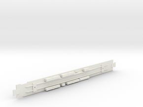 Diner Car Chassis in White Natural Versatile Plastic