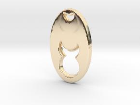 Horned Brujo in 14k Gold Plated Brass