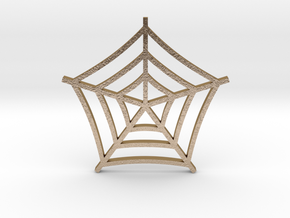 Cobweb Pendant in Polished Gold Steel