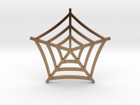 Cobweb Pendant in Natural Brass