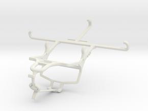 Controller mount for PS4 & Motorola Moto G5 Plus - in White Natural Versatile Plastic