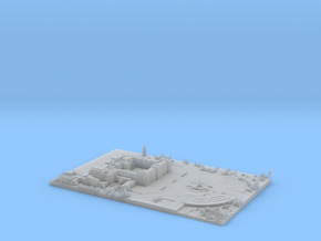 Buckingham Palace Map, London in Smooth Fine Detail Plastic