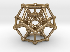 Hyper Dodecahedron in Polished Gold Steel
