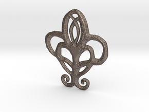 Spears of the Church Sigil in Polished Bronzed Silver Steel
