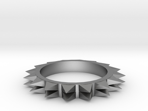 Spiked Ring Size 8 in Natural Silver