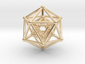 Hyper Icosahedron in 14k Gold Plated Brass
