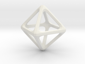 Octohedron in White Natural Versatile Plastic