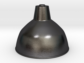 1:12 Lampshade industrial in Polished Grey Steel