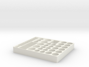 Batteri Holder in White Natural Versatile Plastic