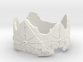 Cloud Ships 2, Ring Size 8 in White Natural Versatile Plastic