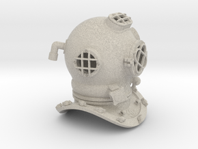 Diving Helmet in Natural Sandstone