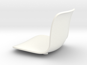 1:12 Chair hardshell - seat only in White Processed Versatile Plastic