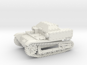 T27a Tankette (1:87 HO scale) in White Natural Versatile Plastic