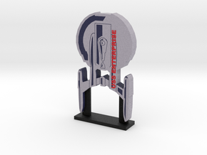 USS Enterprise NX-01 Display = DESKAPADES = in Full Color Sandstone: Small