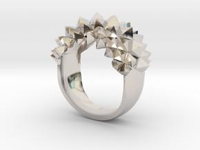 Ring Studs Bolder in Rhodium Plated Brass