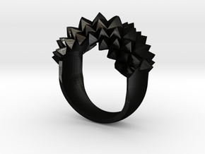 Ring Studs Bolder in Matte Black Steel