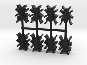 Custom Order, 8-set 16mm Ants in Black Natural Versatile Plastic