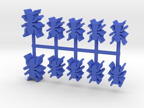 Custom Order, 10-set 16mm and 12mm Ants in Blue Processed Versatile Plastic