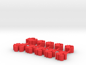 Custom Order, 10-set, 16mm and 12mm Crabs in Red Processed Versatile Plastic