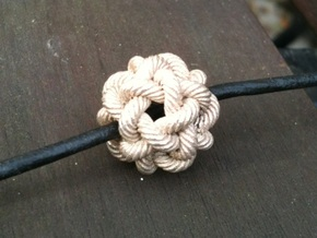 Rope Bead (L) in Natural Silver