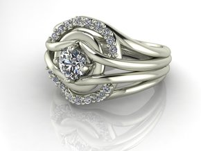 Classic Solitaire 12 NO STONES SUPPLIED in Fine Detail Polished Silver