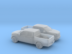 1/160 2X 2015 Ford F 150 Crew Cab in Smooth Fine Detail Plastic