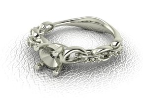 Link ring NO STONES SUPPLIED in 14k White Gold