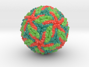 Zika virus (alternate color scheme) in Coated Full Color Sandstone