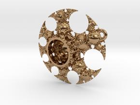 Josklein Fractal Pendant in Polished Brass: Large