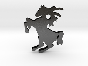 Horse Pendant in Matte Black Steel