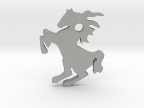 Horse Pendant in Aluminum