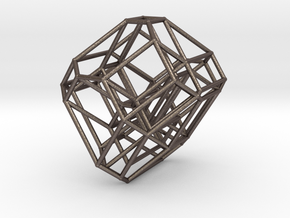 Cyclohedron in Polished Bronzed Silver Steel