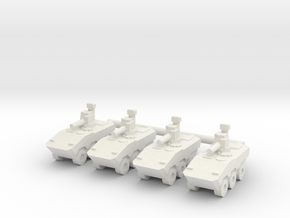 1/144 VBTP-MR Guarani (RWS) (x4) in White Natural Versatile Plastic