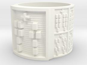 OTURAJUANI Ring Size 13.5 in White Processed Versatile Plastic