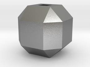 Pendant Diamond in Natural Silver