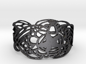 Bracelet Design  5,7 cm in Polished and Bronzed Black Steel