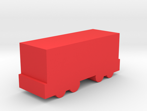 Game Piece, Freight Train Box Car in Red Strong & Flexible Polished