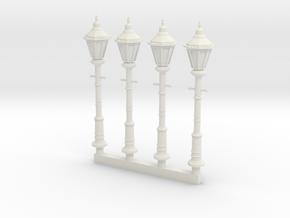 Victorian Street Light 28mm Group in White Natural Versatile Plastic