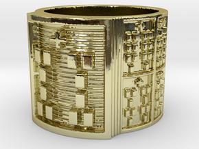 BABA IWORI MEYI Ring Size 11-13 in 18k Gold Plated: 12 / 66.5
