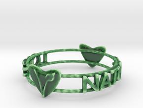 Love Nature Vegan Bracelet in Gloss Oribe Green Porcelain