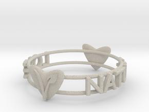 Love Nature Vegan Bracelet in Natural Sandstone: Large