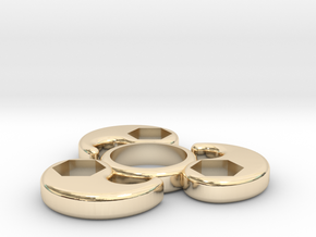 Single Bearing Hand Spinner in 14K Yellow Gold
