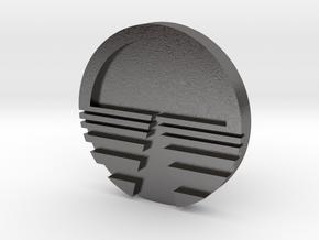 Horizon Logo Cuff Links in Polished Nickel Steel