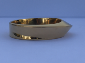 Ring Moebius in 14k Gold Plated Brass: 8 / 56.75