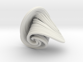 Halvorsen Attractor in White Natural Versatile Plastic